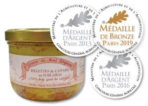 Rillettes de canard au foie gras